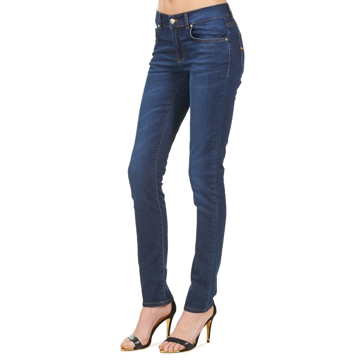 Versace Jeans Couture Denim V Strass Skinny Jeans in Blue