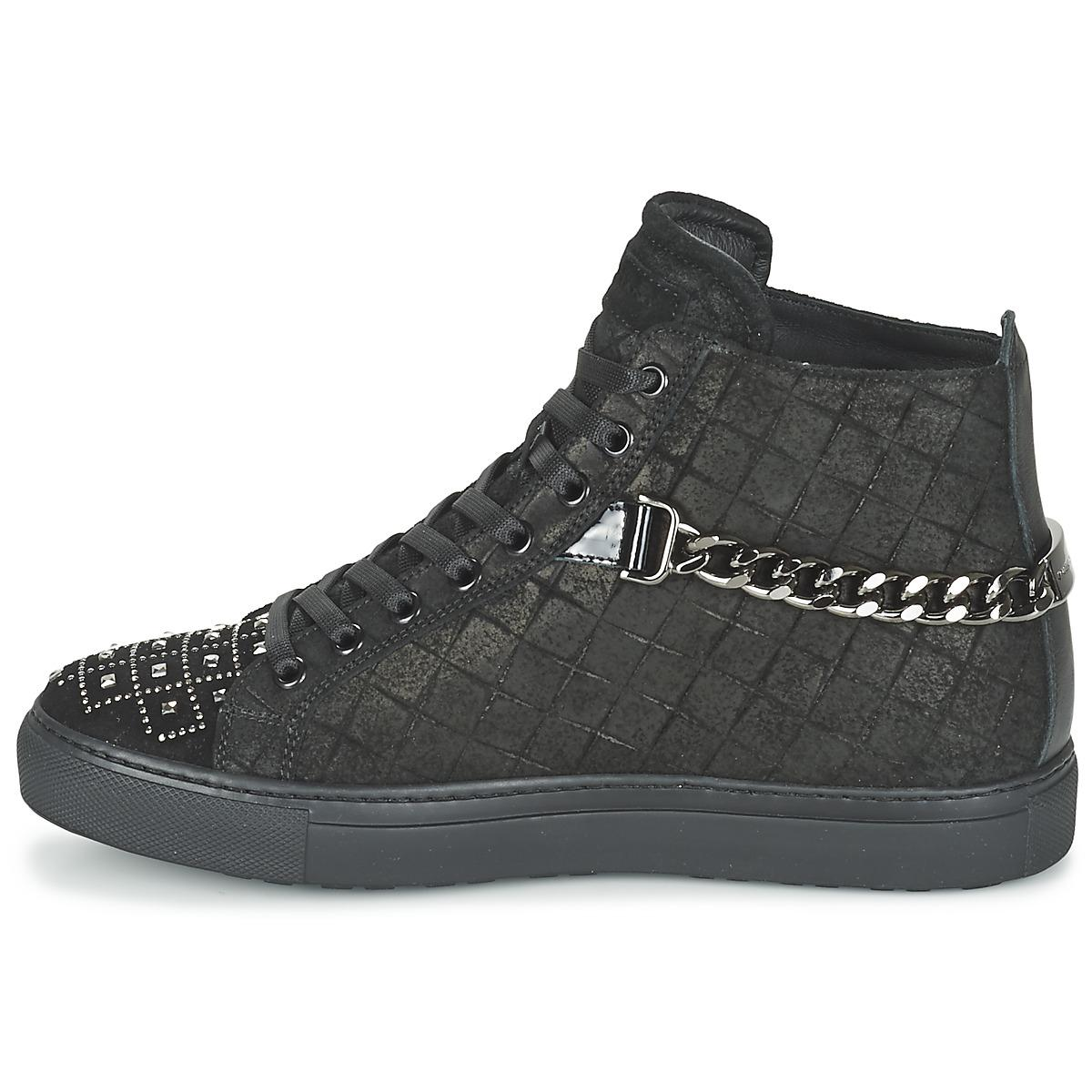 John Galliano Leather Rambert Shoes (high-top Trainers) in Black