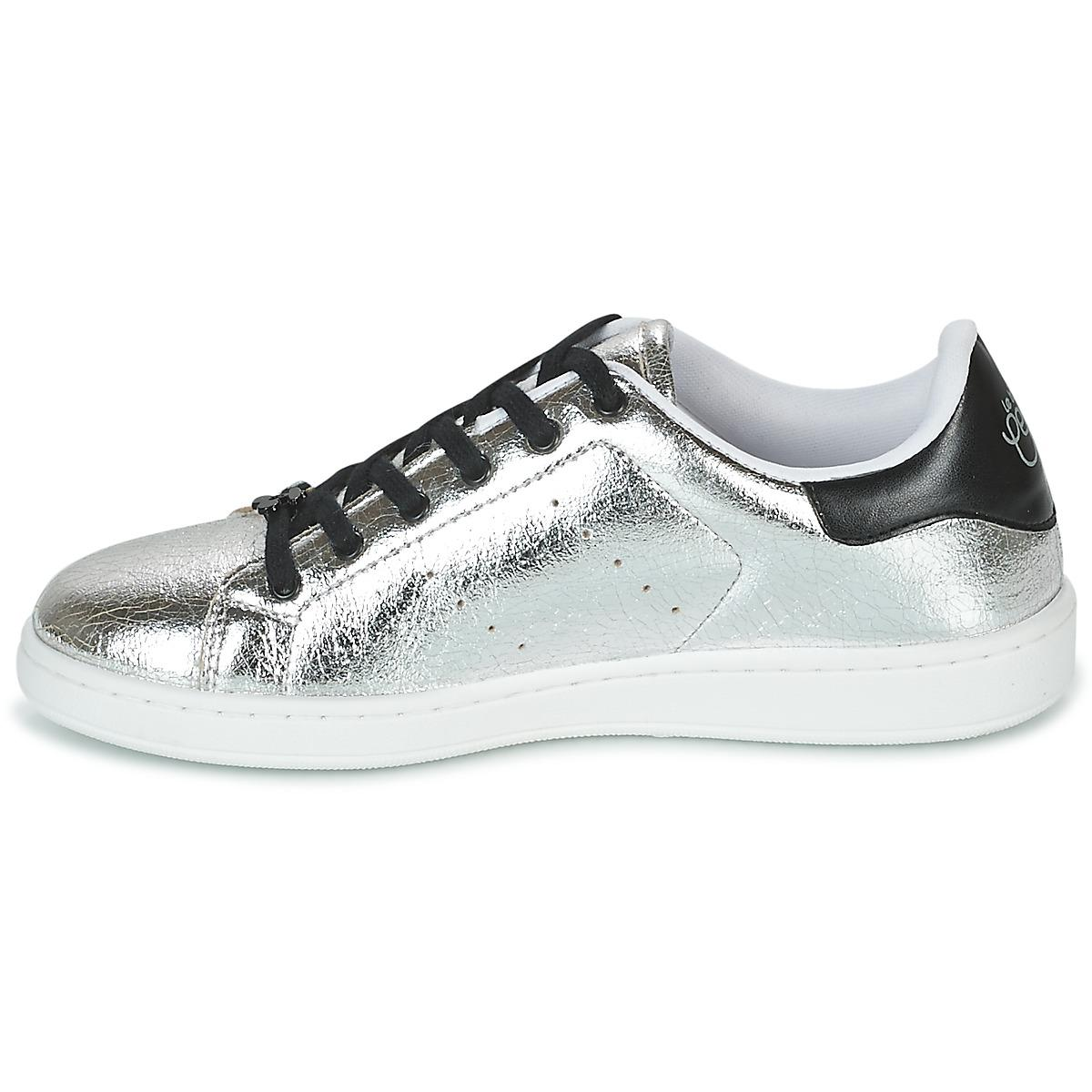 Le Temps Des Cerises Synthetic Hope Women's Shoes (trainers) In Silver in Metallic - Save 7%