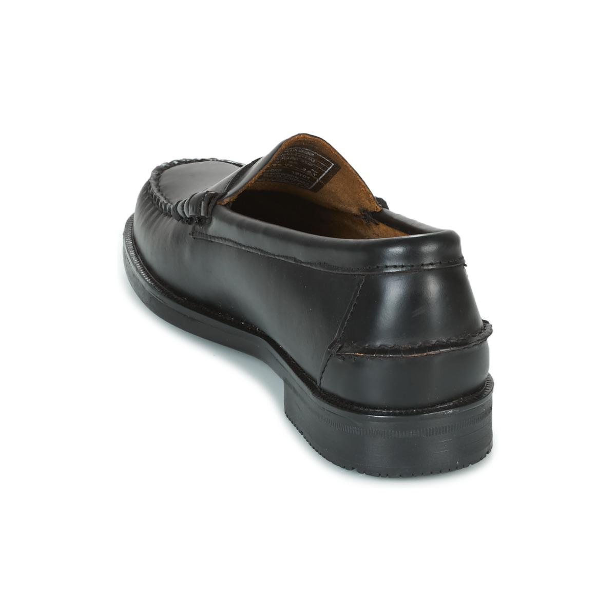 Sebago Leather Grant Loafers / Casual Shoes in Black for Men
