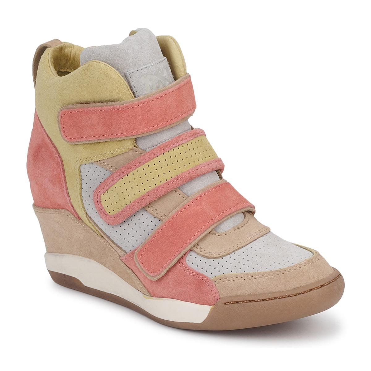 Ash Leather Alex Women's Shoes (high-top Trainers) In Orange