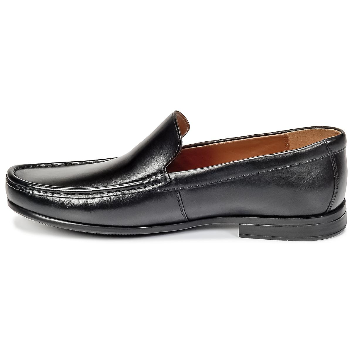 Clarks Synthetic Claude Plain Loafers / Casual Shoes in Black for Men