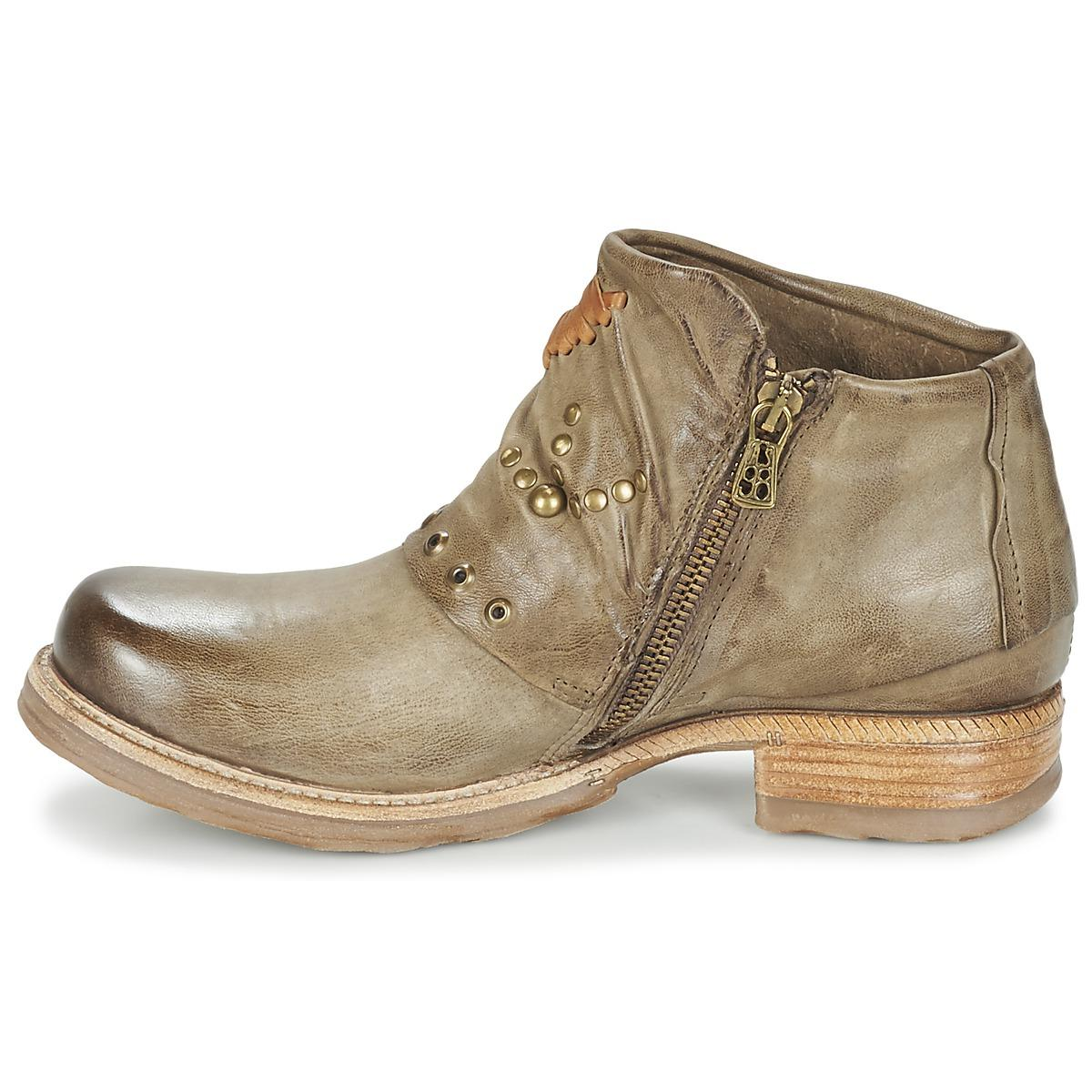 A.s.98 Leather Saint Mid Boots in Green