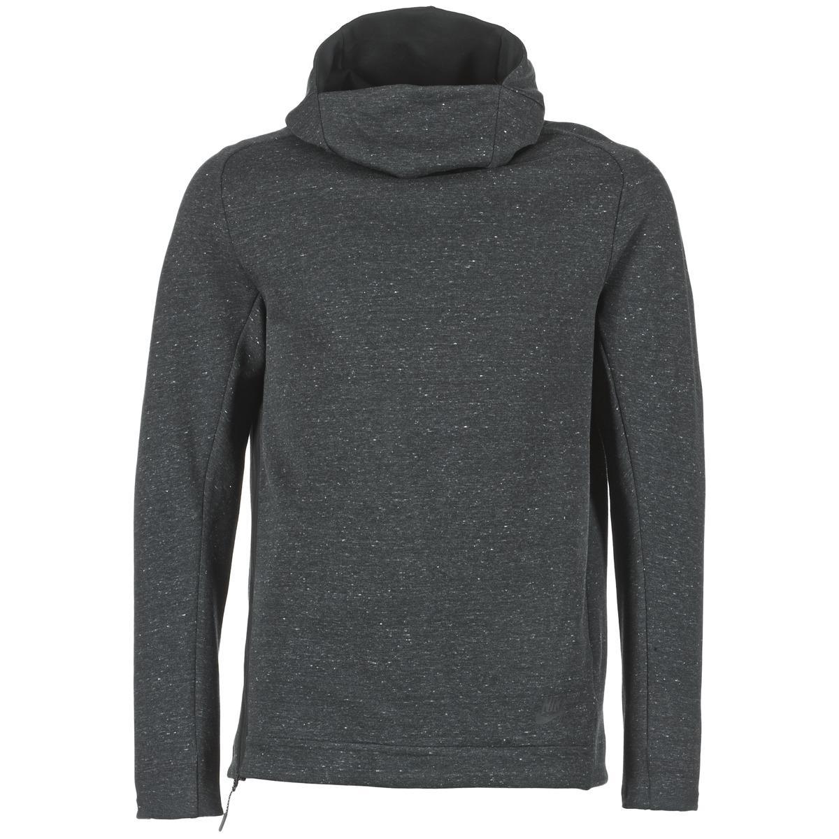 nike grey funnel neck hoodie