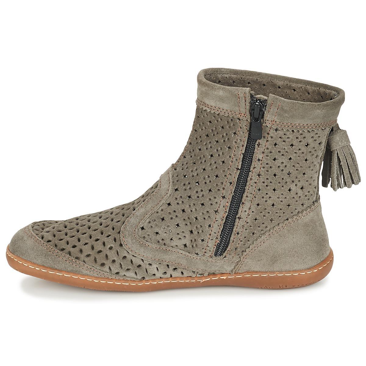 El Naturalista Rubber El Viajero Boot Mid Boots in Grey (Grey)