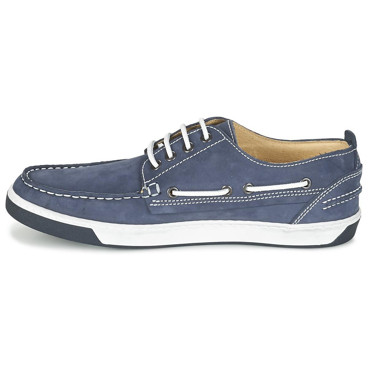 Casual Attitude Geroso Boat Shoes in Blue for Men