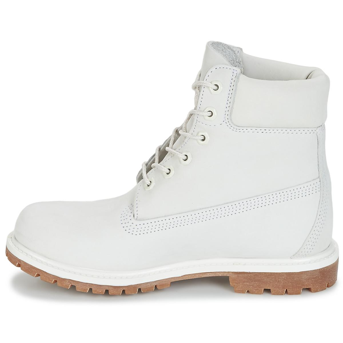 Women's White 6in Premium Boot W Mid Boots