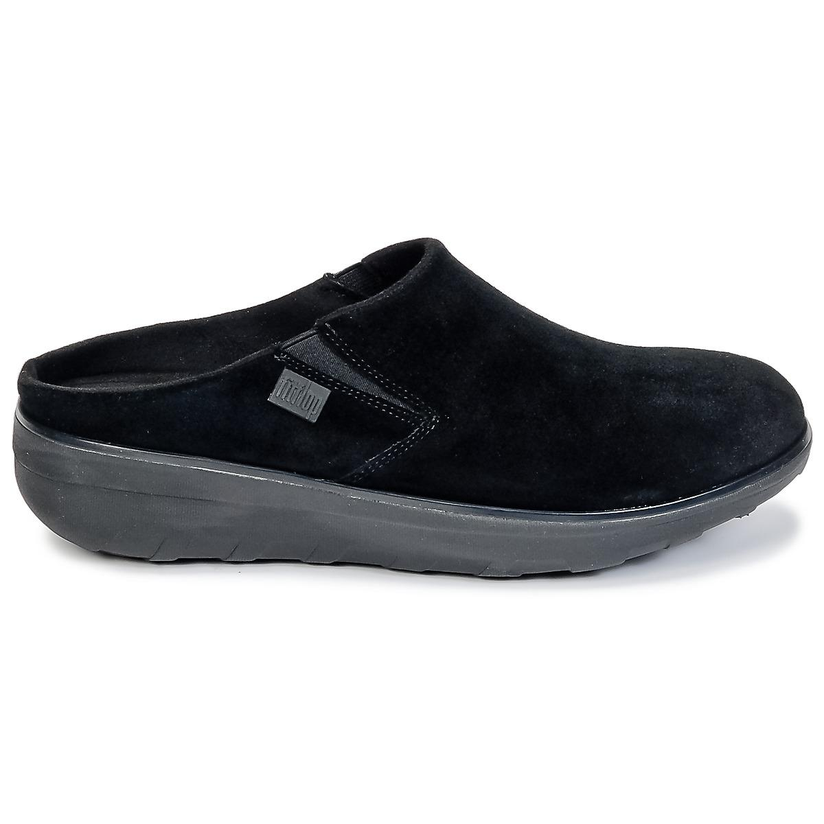 a633b6c3c17f Fitflop - Black Loaff Suede Clog Mules   Casual Shoes - Lyst. View  fullscreen