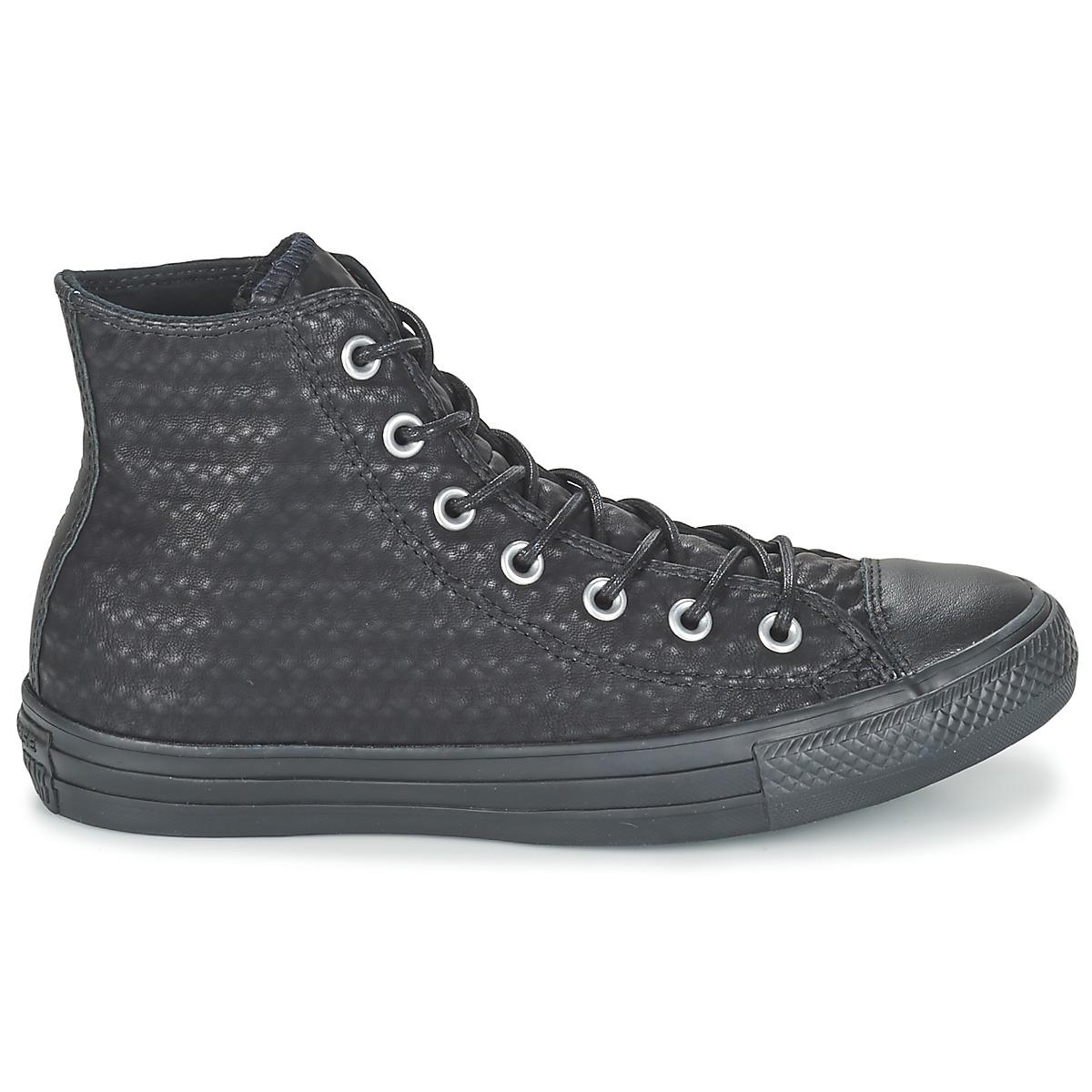 Converse Chuck Taylor All Star Craft Cuir Hi Shoes (high-top Trainers) in Black