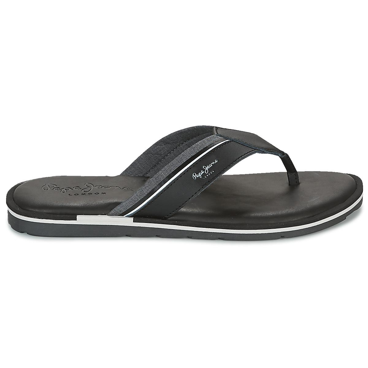 a35068c36a3a Pepe Jeans - Black Barrel Fabric Flip Flops   Sandals (shoes) for Men -.  View fullscreen
