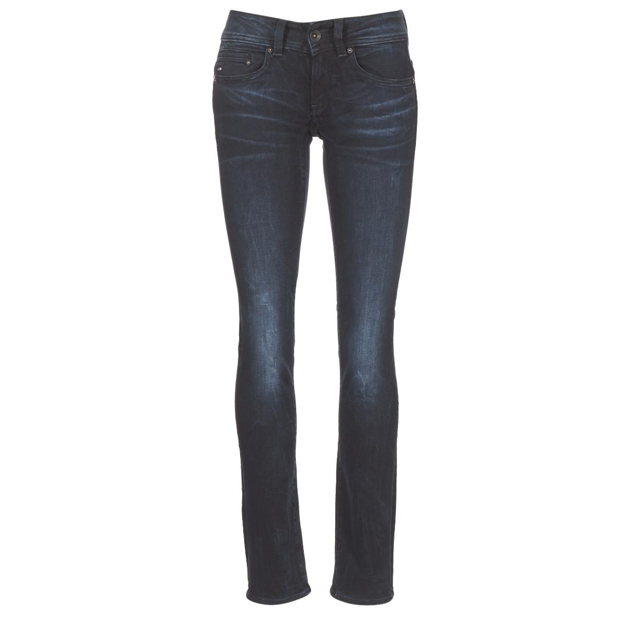 7d08f77832e G-Star RAW Midge Saddle Mid Straight Jeans in Blue - Lyst