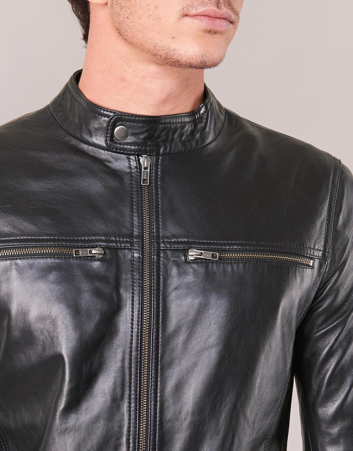 Casual Attitude Ihexo Leather Jacket in Black for Men - Save 6%