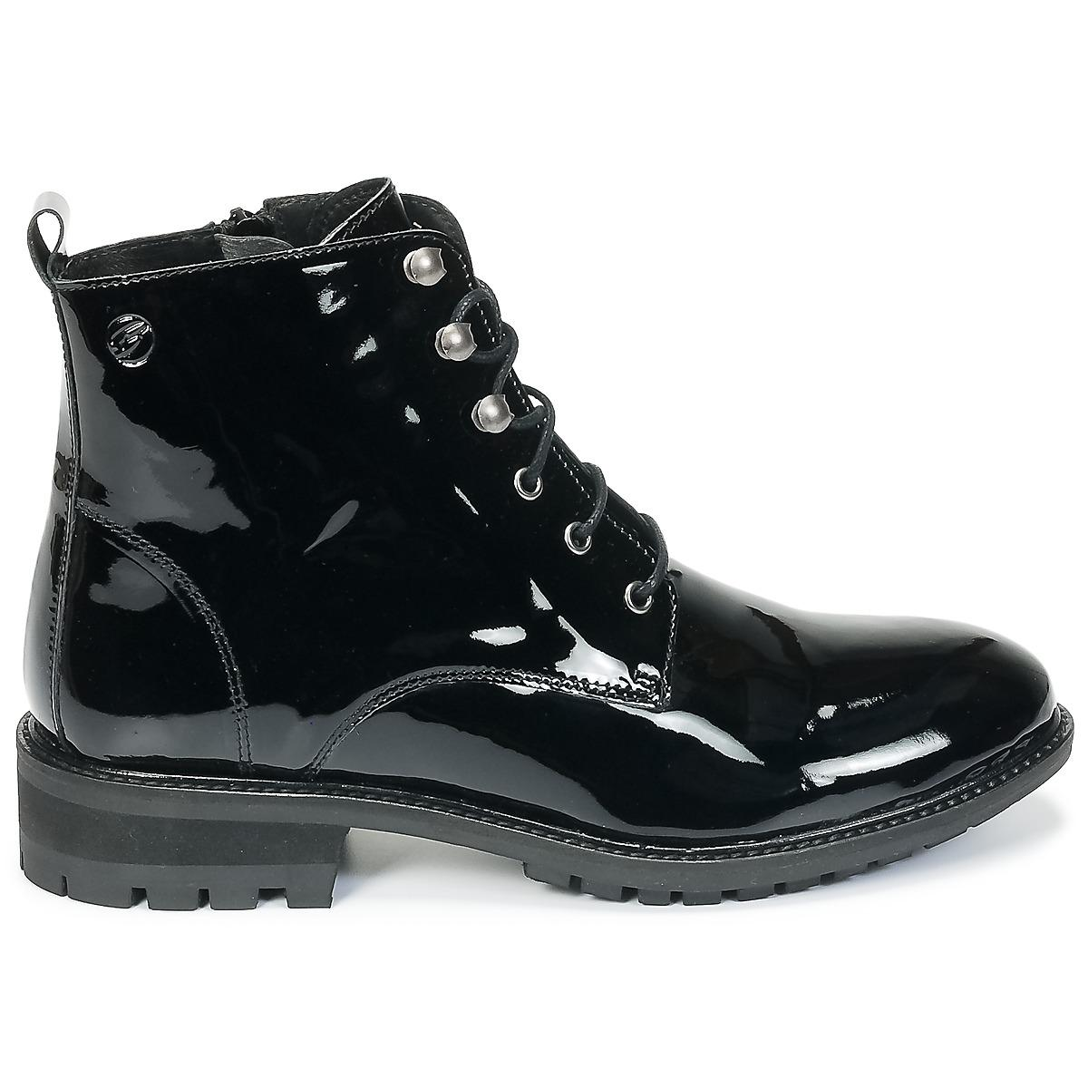 Betty London Leather Hildie Mid Boots in Black - Save 9%