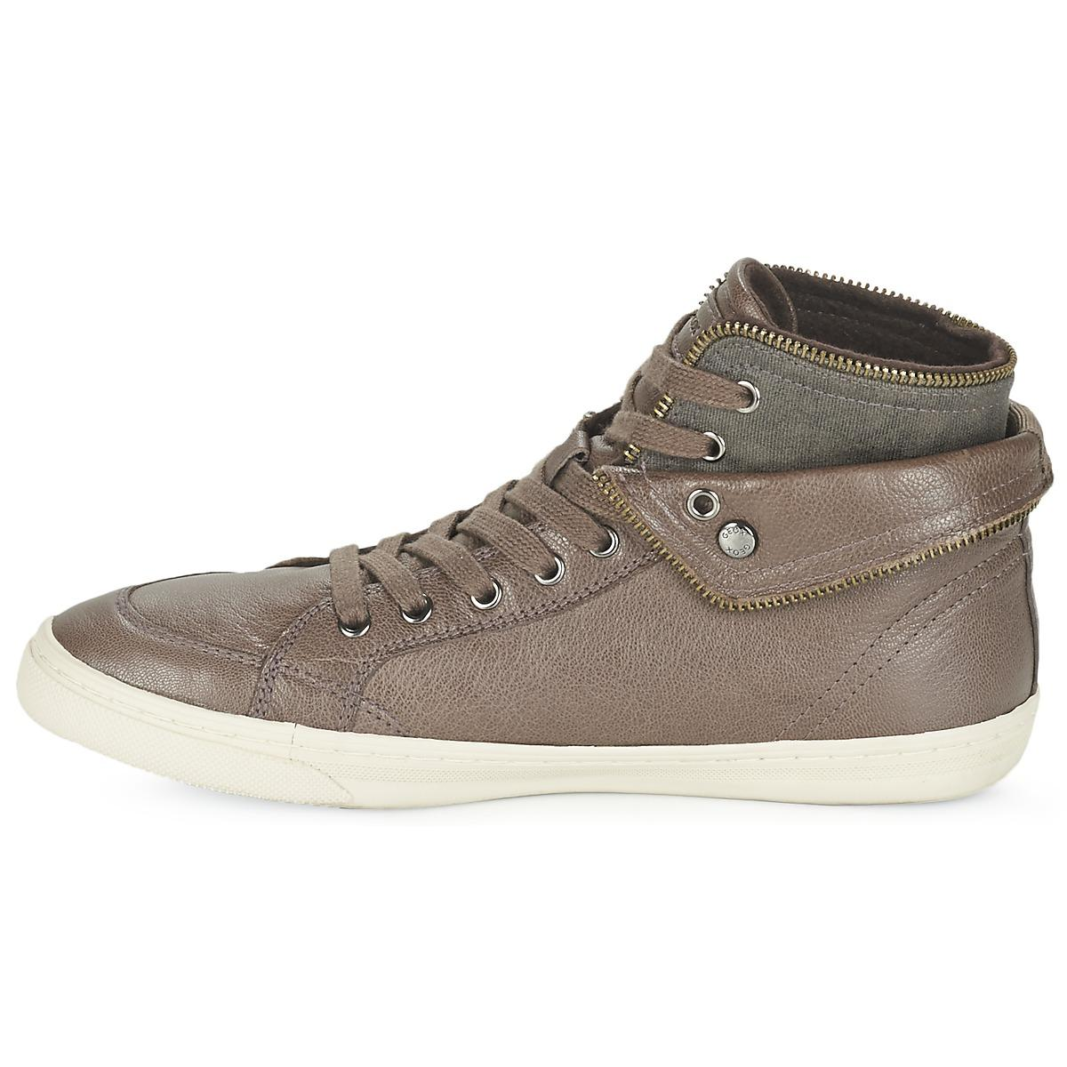 Geox D New Club Shoes (high-top Trainers) in Brown