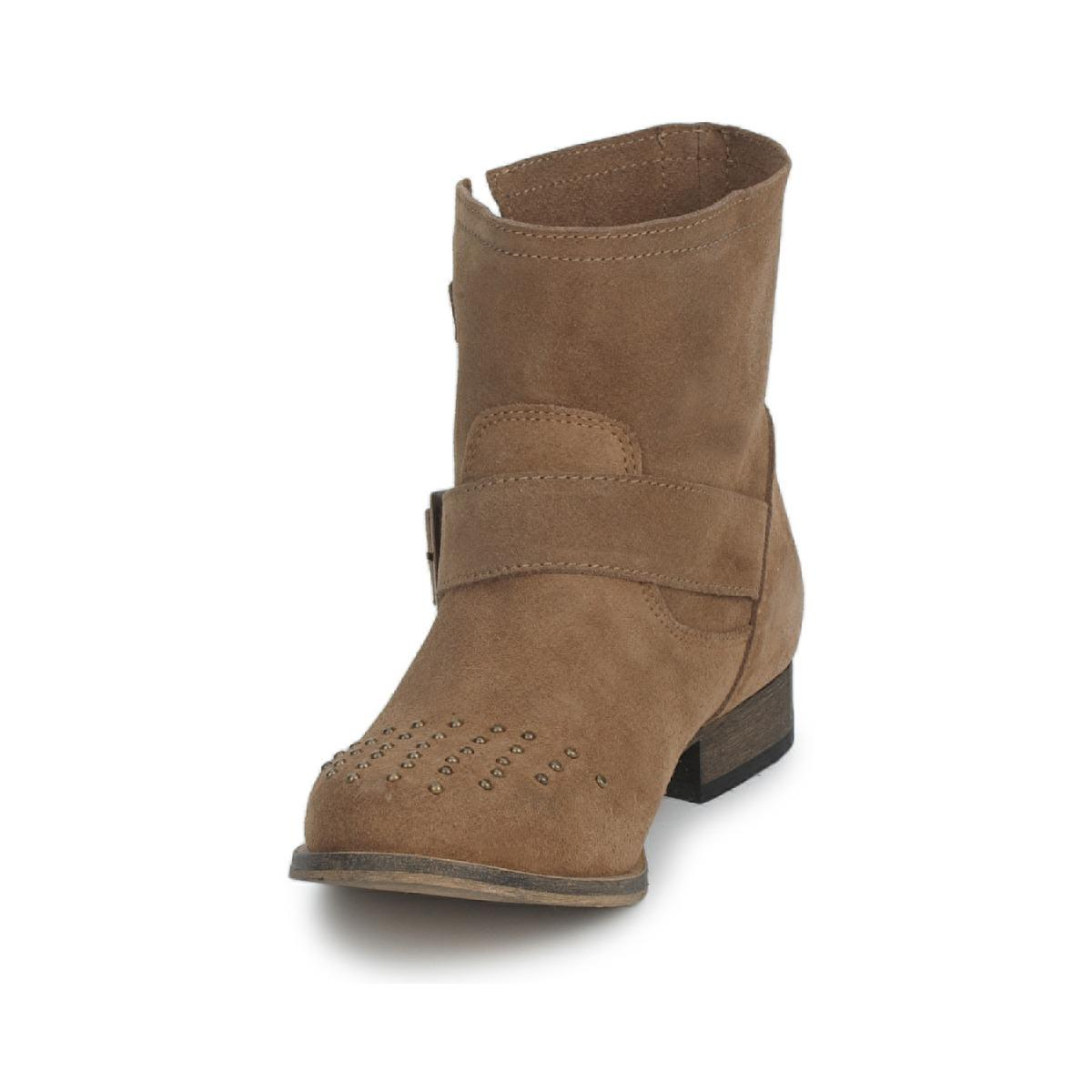 Betty London Leather Artune Mid Boots in Brown