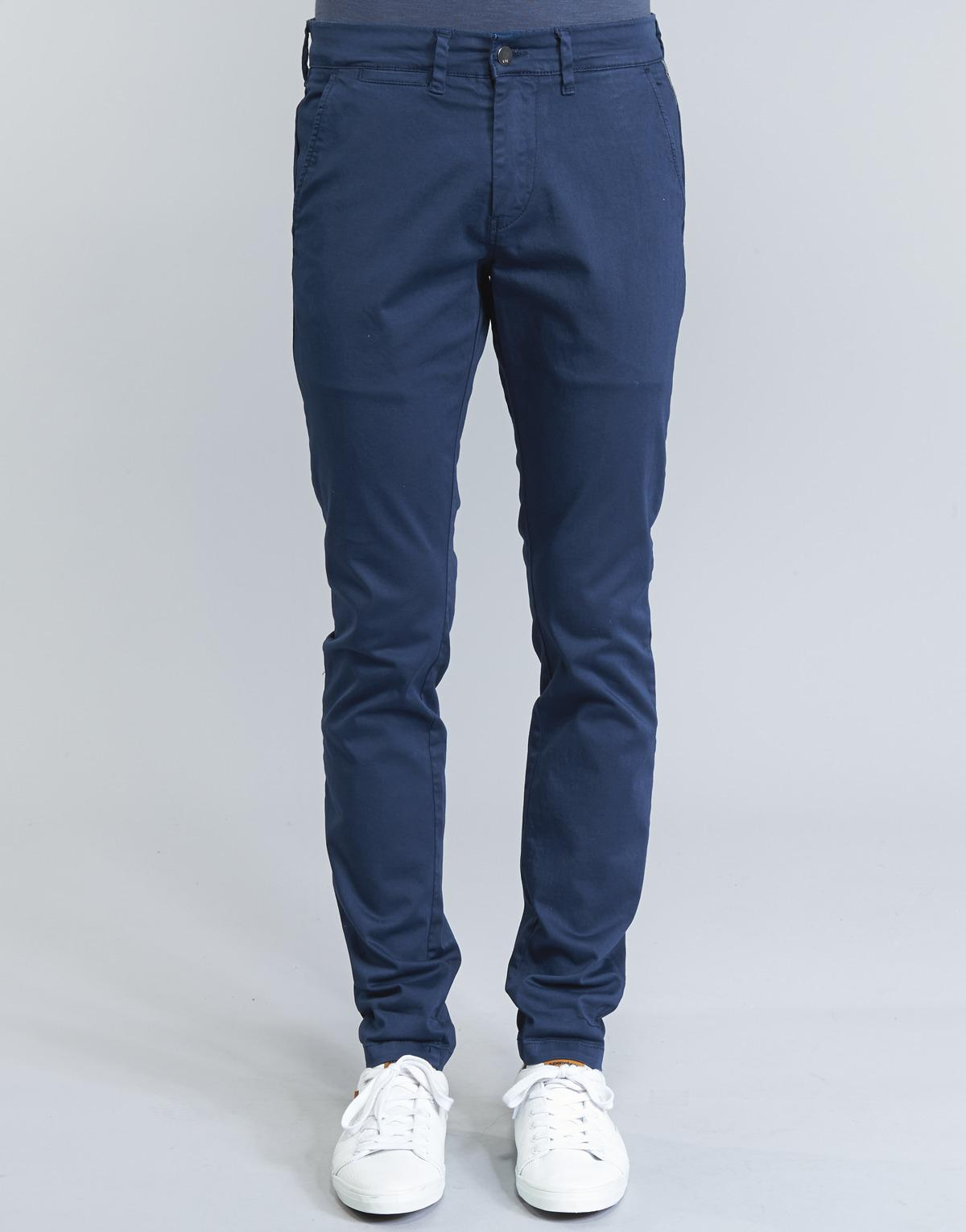 Le Temps Des Cerises Cotton Ond Trousers in Blue for Men