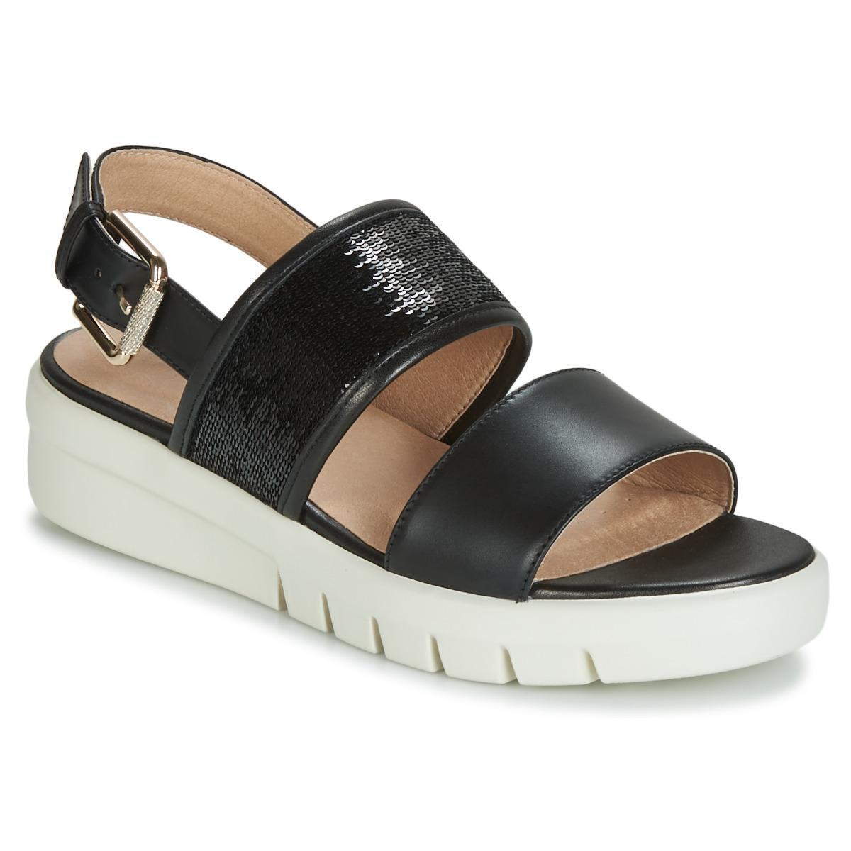 80043d4561b Geox D Wimbley Sandal Sandals in Black - Lyst