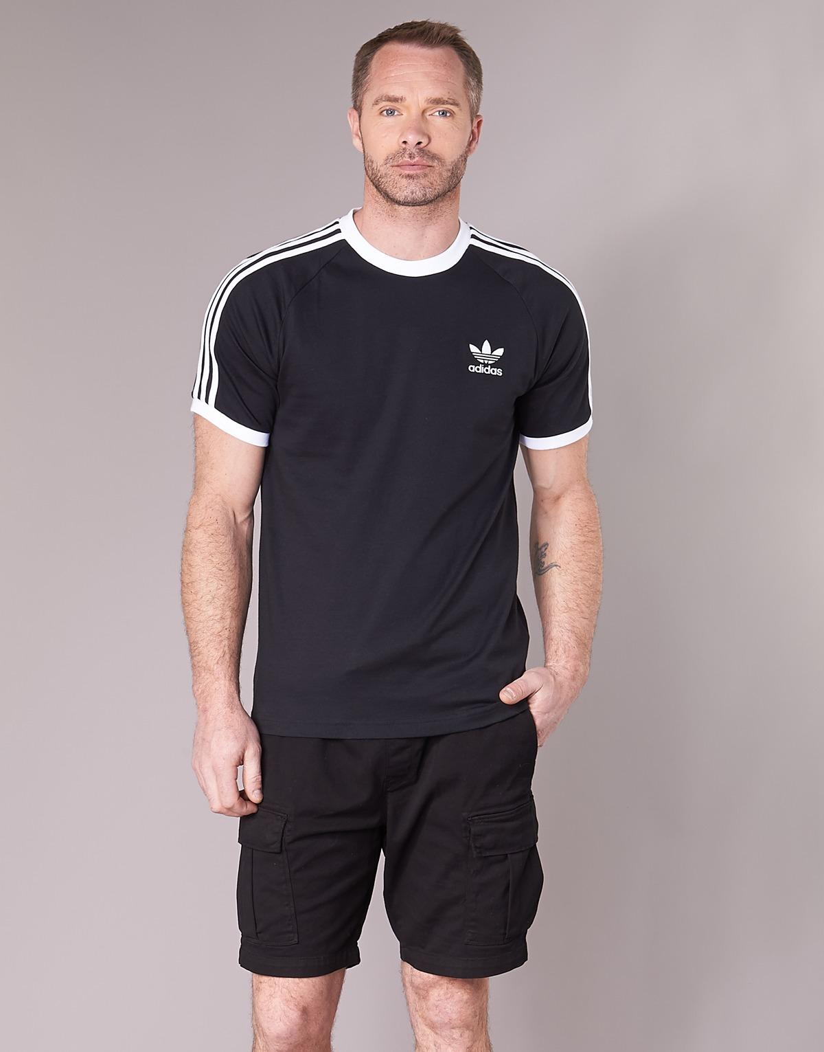 cheaper 6bac2 131ff adidas 3 Stripes Tee T Shirt in Black for Men - Save 63% - Lyst
