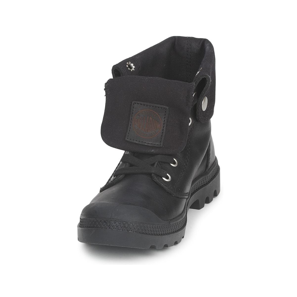 Palladium Leather BAGGY Premium Mid Boots in Black