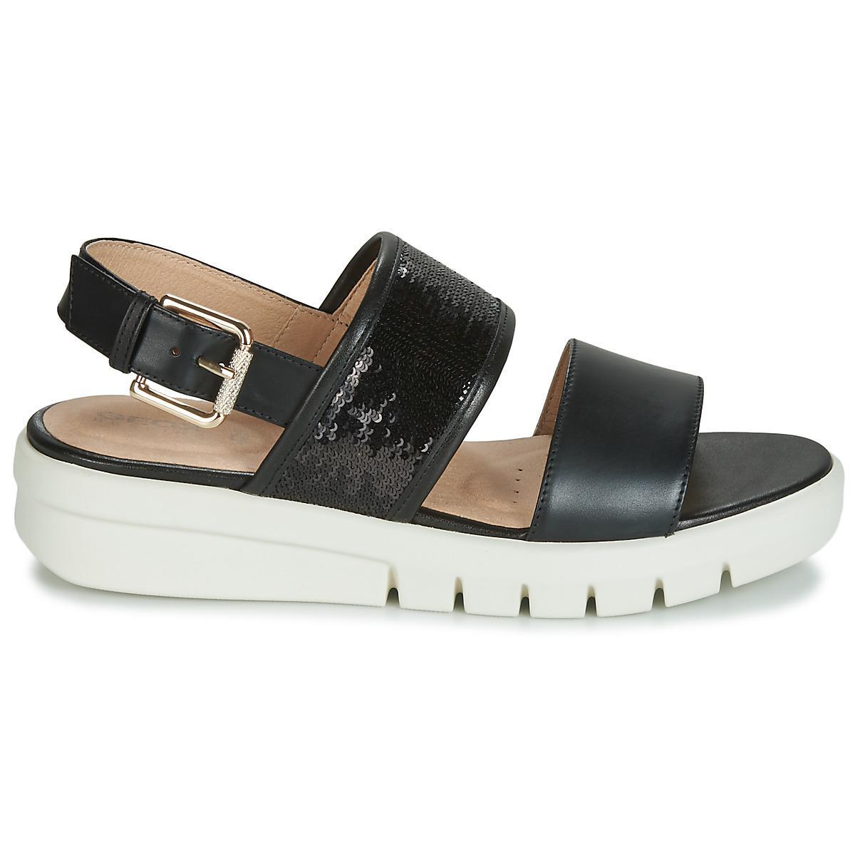 3a06532ea4e Geox - Black D Wimbley Sandal Sandals - Lyst. View fullscreen