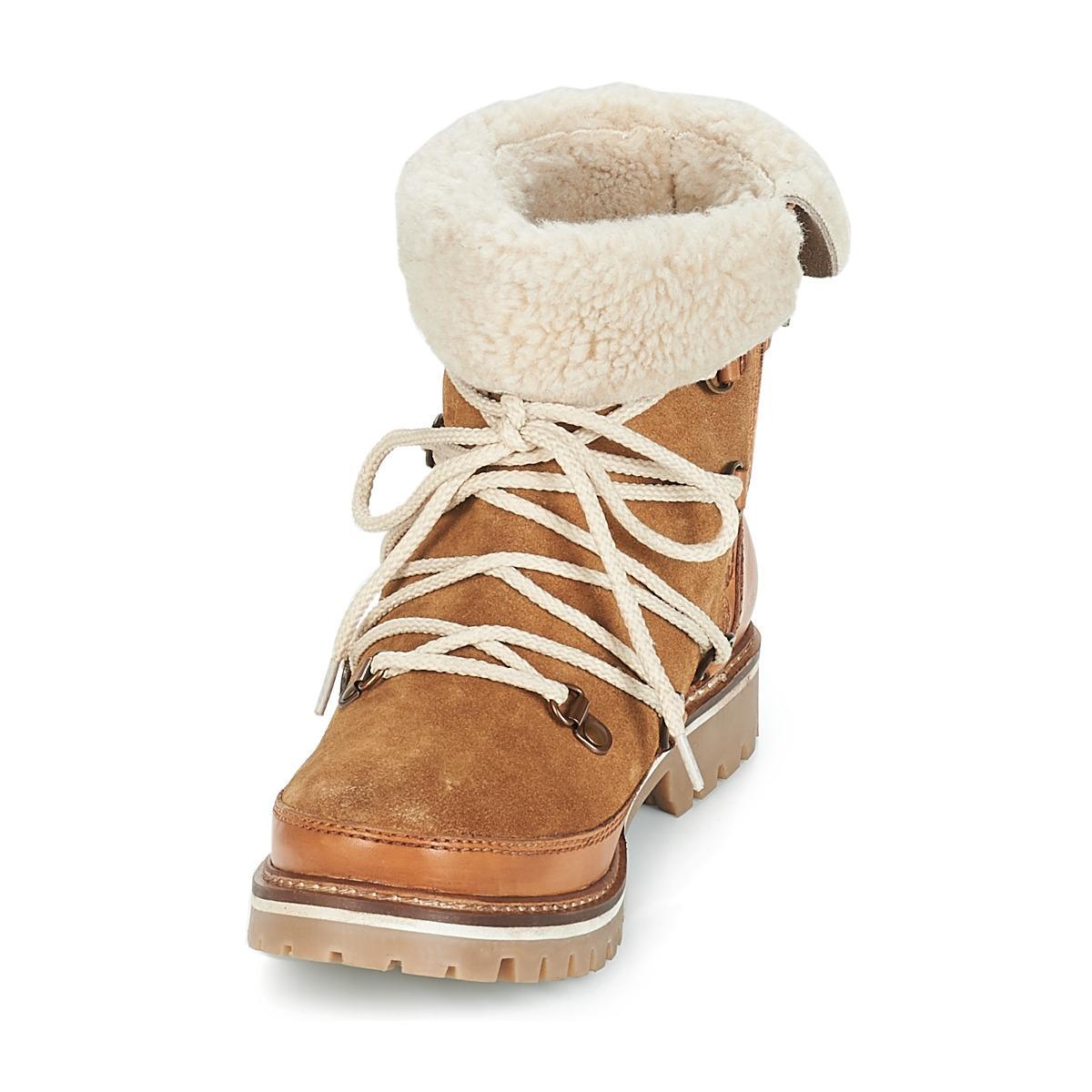 Les Tropéziennes Par M Belarbi Leather Melissa Mid Boots in Brown