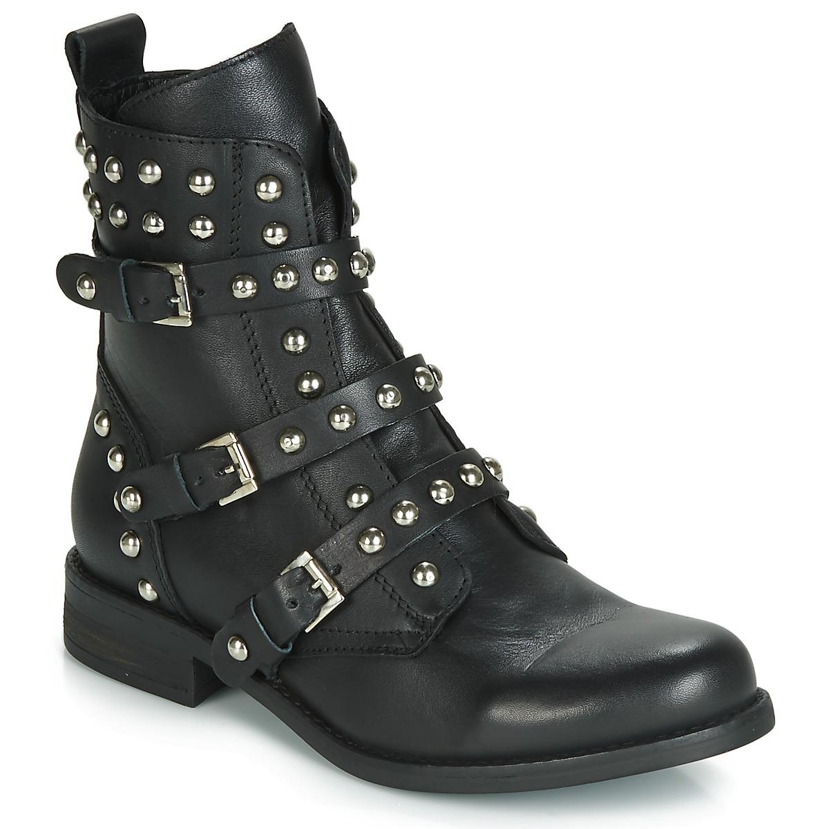 c69b317cada Steve Madden Spunky Low Ankle Boots in Black - Lyst