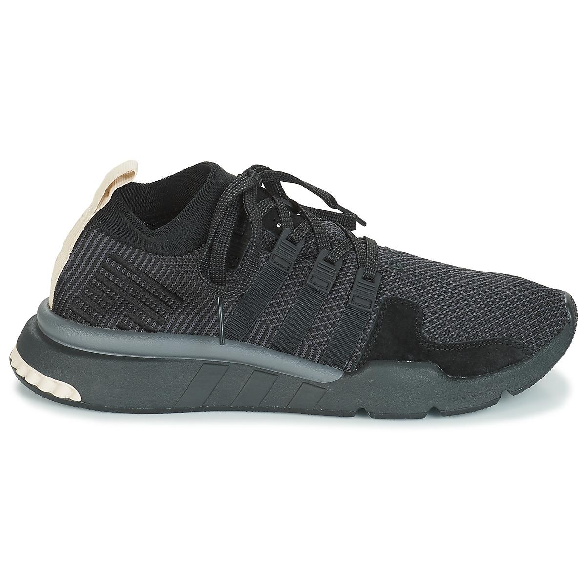 huge discount 045b7 b9098 Adidas - Black Eqt Support Mid Adv Shoes (trainers) for Men - Lyst. View  fullscreen