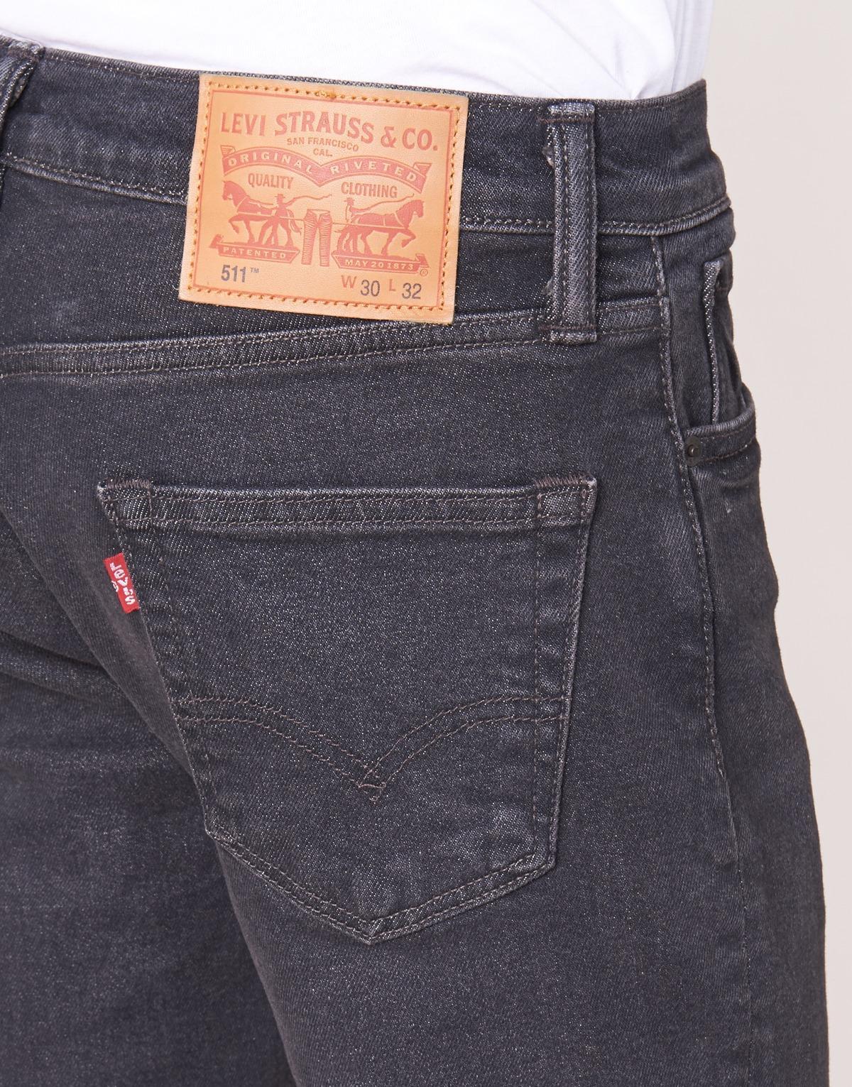Levi's Denim Levis 511 Slim Fit Men's Skinny Jeans In Black for Men