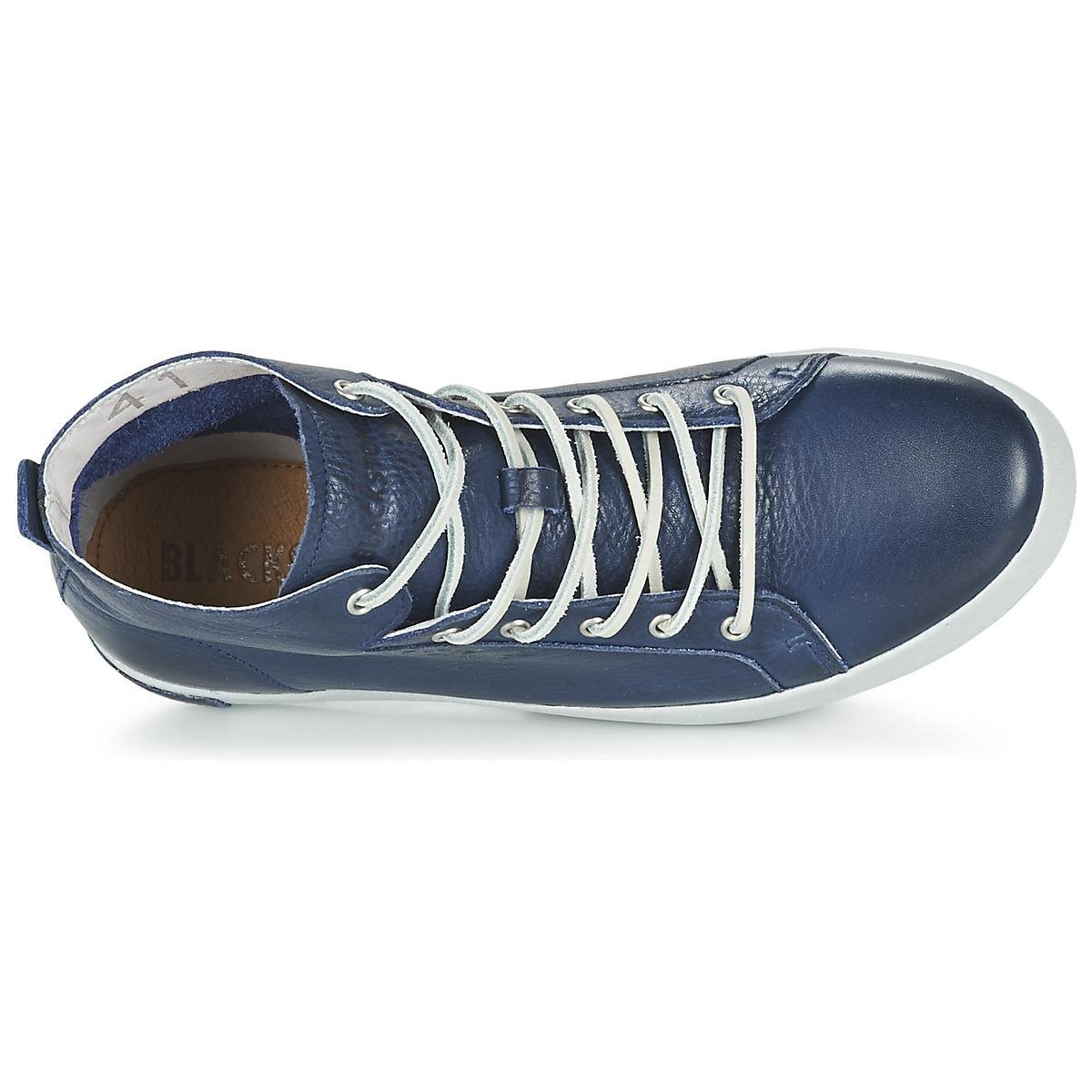 Blackstone Leather Jm03 Shoes (high-top Trainers) in Blue for Men