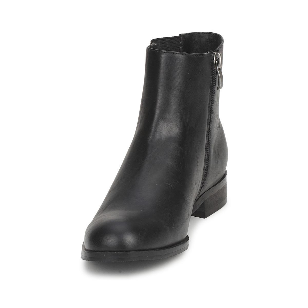 Moony Mood Synthetic Yenek Mid Boots in Black