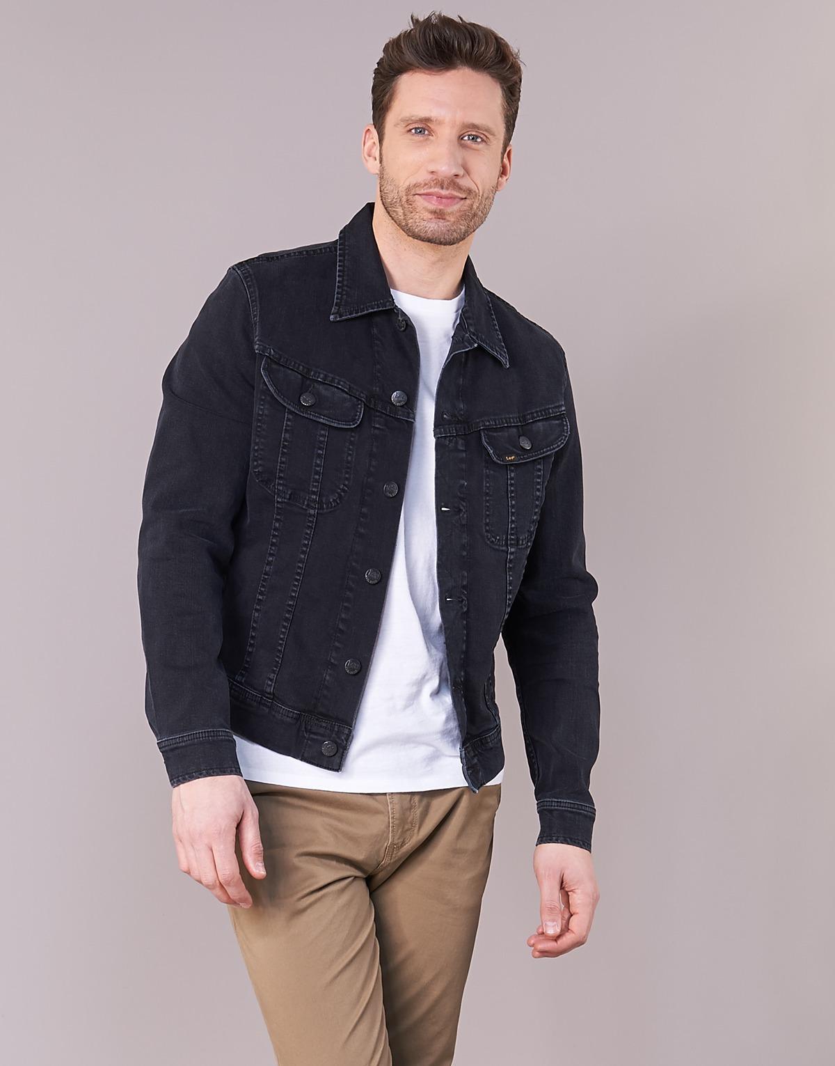 Lee Jeans Slim Rider Denim Jacket in Black for Men - Save 14%