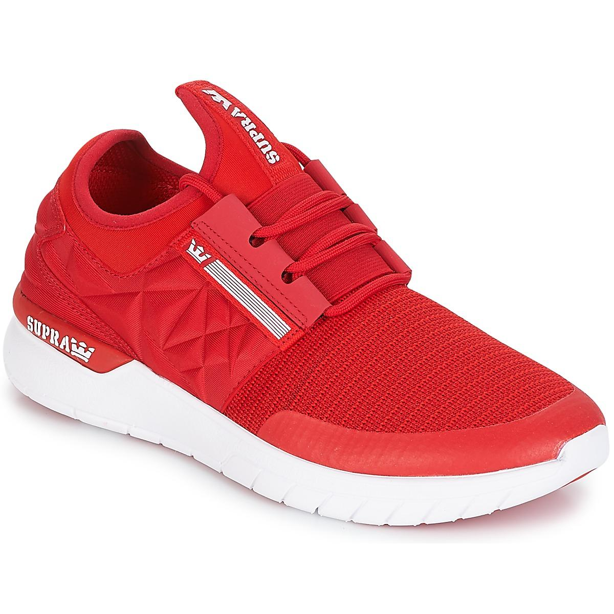 Supra Leather Flow Run Evo Women's Shoes (trainers) In Red