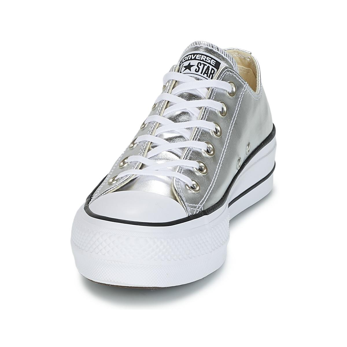 Chuck Taylor All Star Lift Clean Ox Metallic Canvas Shoes (trainers)