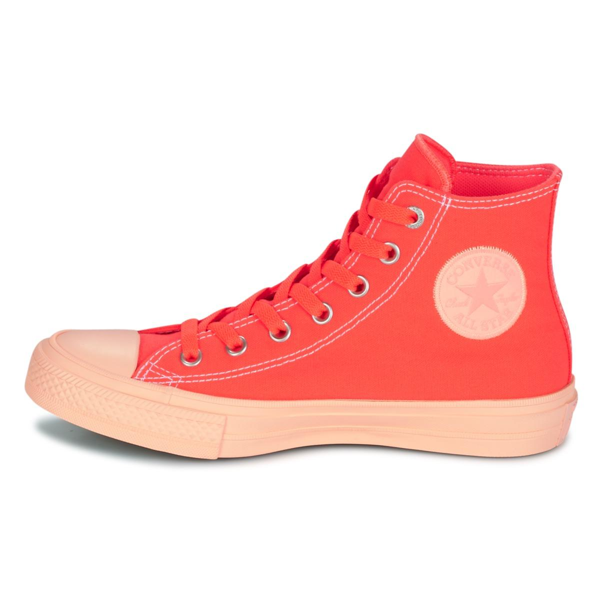 Converse Chuck Taylor All Star Ii Pastel Midsoles Hi Shoes (high-top Trainers) in Orange