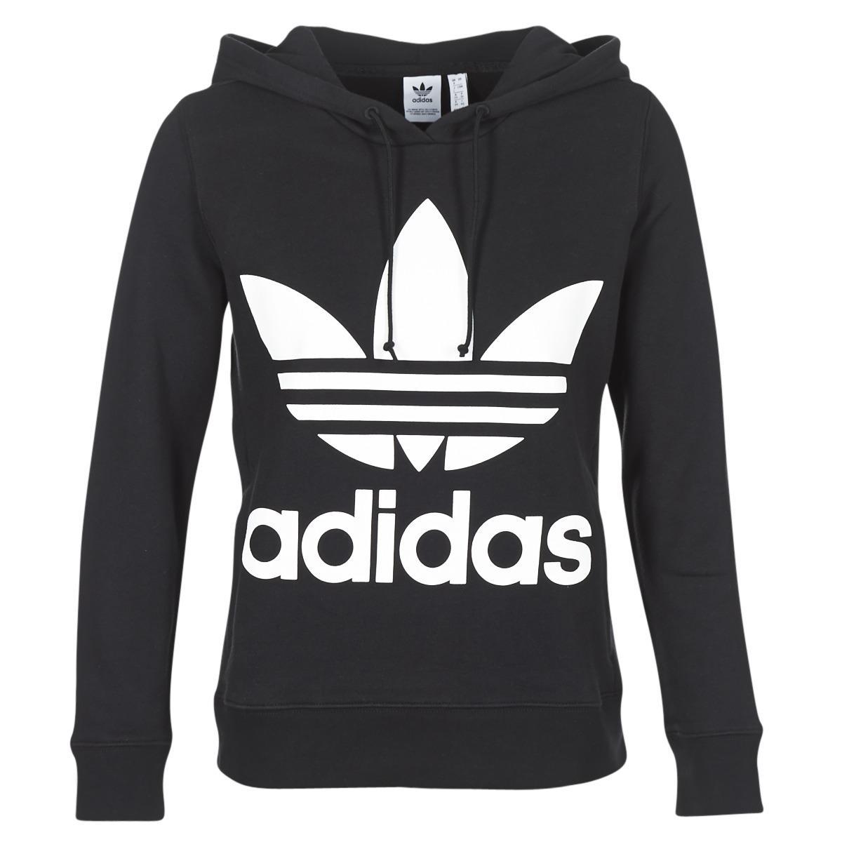 29f4fd261bce7 Adidas - Black Trefoil Hoodie Sweatshirt - Lyst. View fullscreen