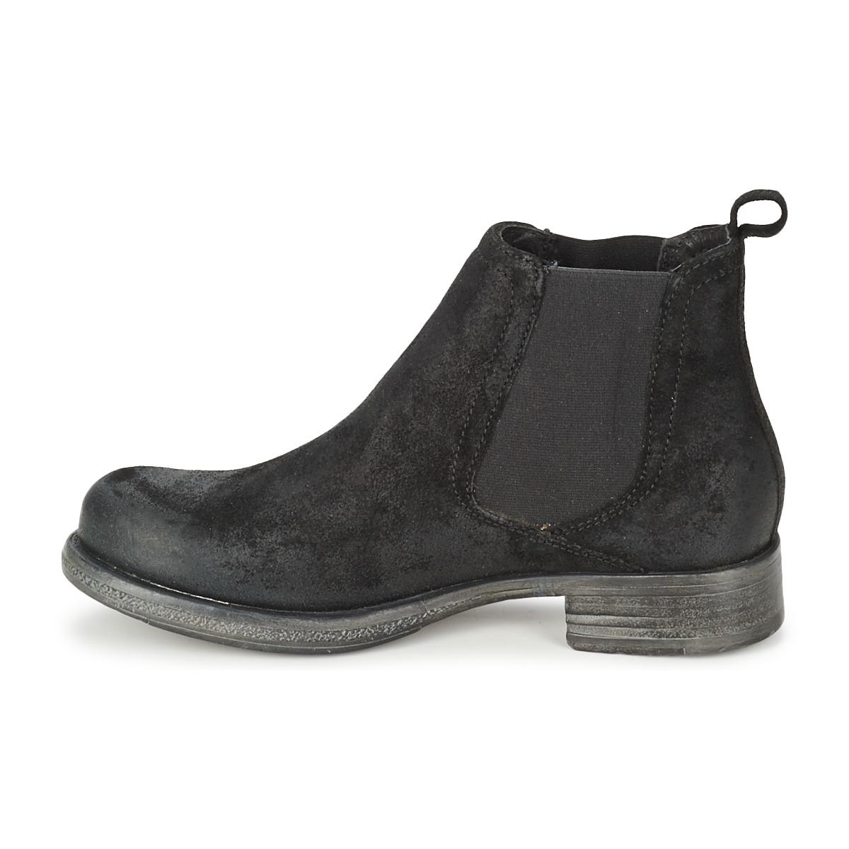 U.S. POLO ASSN. Leather Kelly Mid Boots in Black