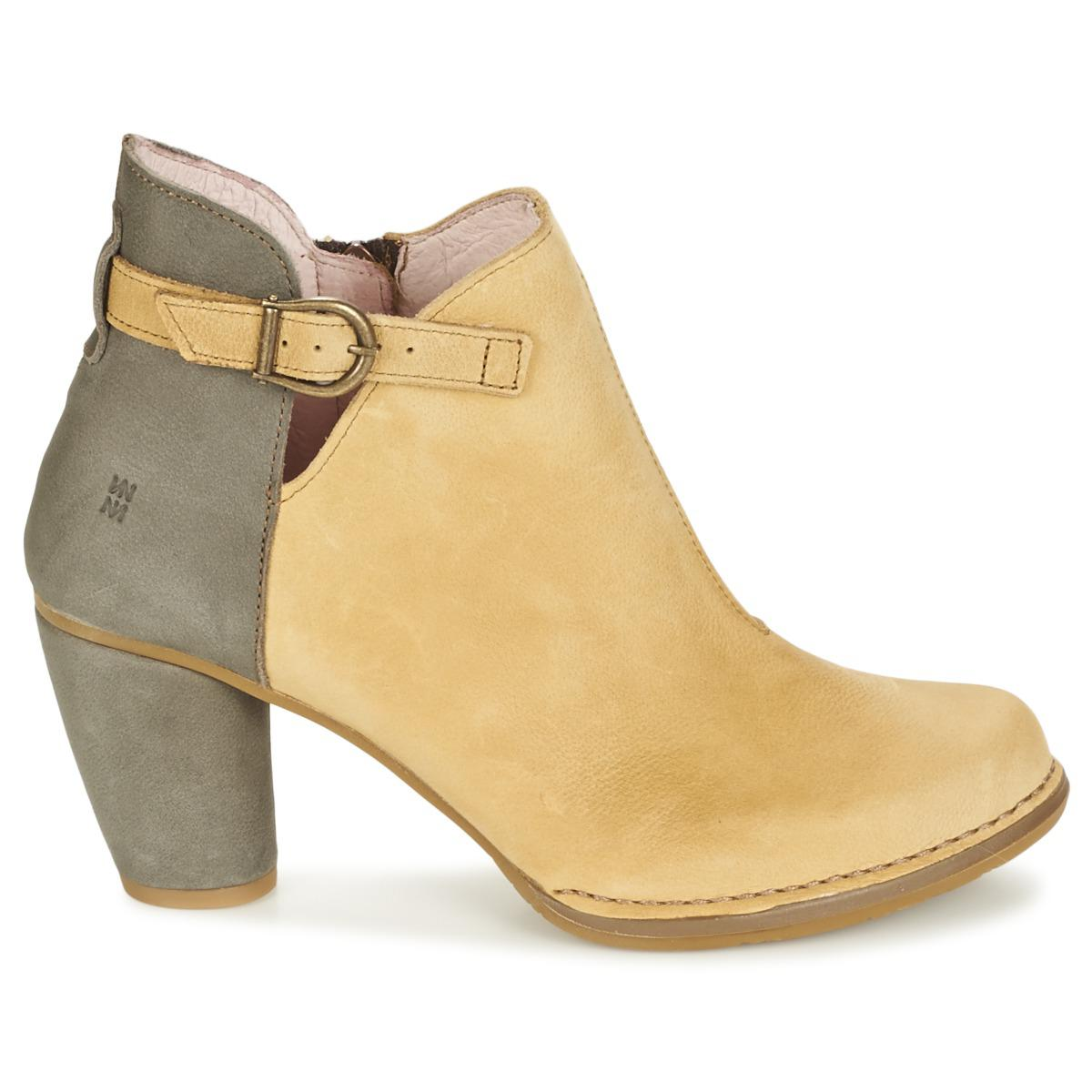 El Naturalista Colibri Low Ankle Boots in Yellow