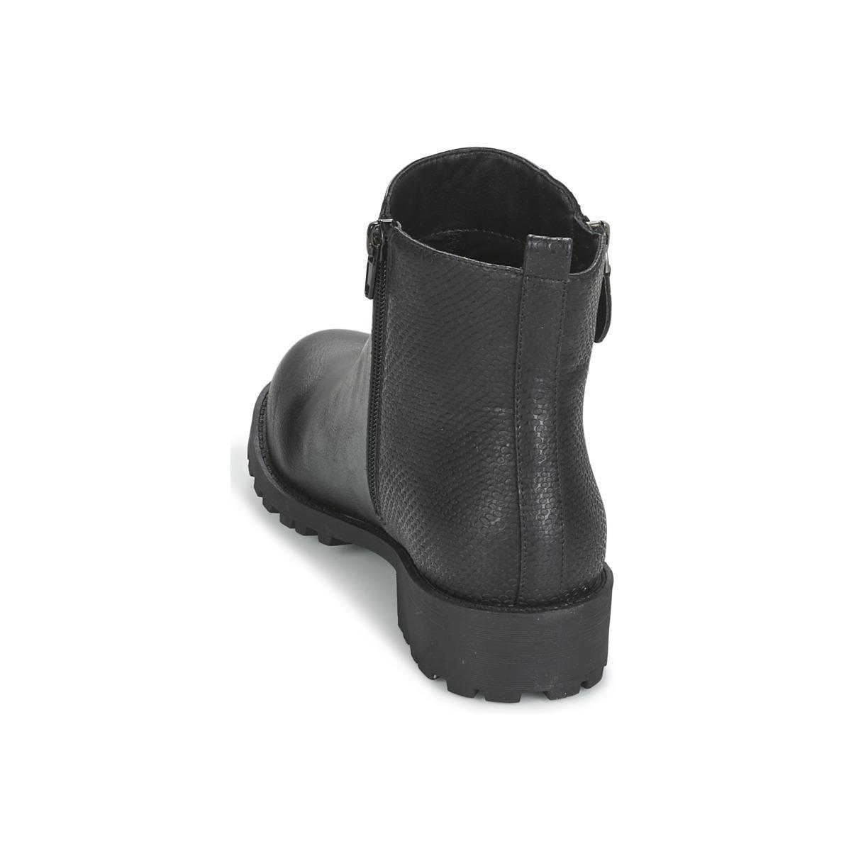 Moony Mood Synthetic Fiju Mid Boots in Black