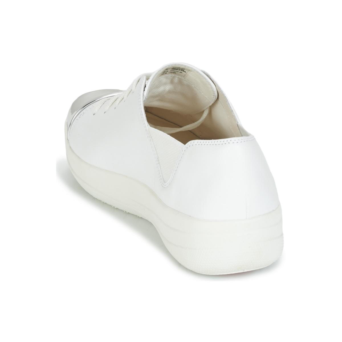 Fitflop F-sporty Mirror-toe Sneakers Shoes (trainers) in White