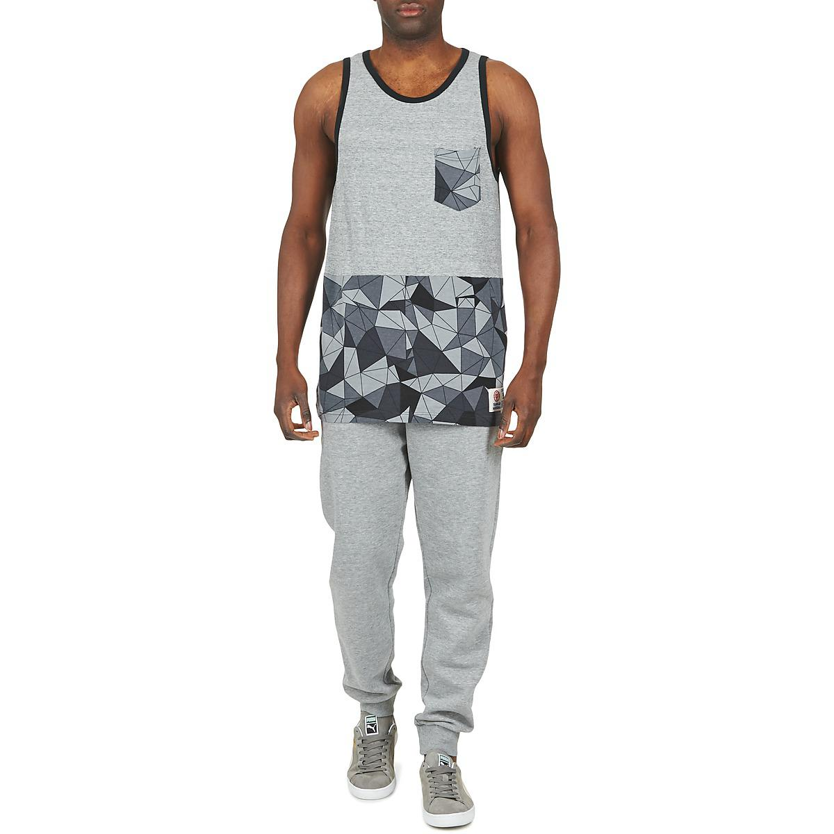 Franklin & Marshall Cotton Cordell Vest Top in Grey (Grey) for Men