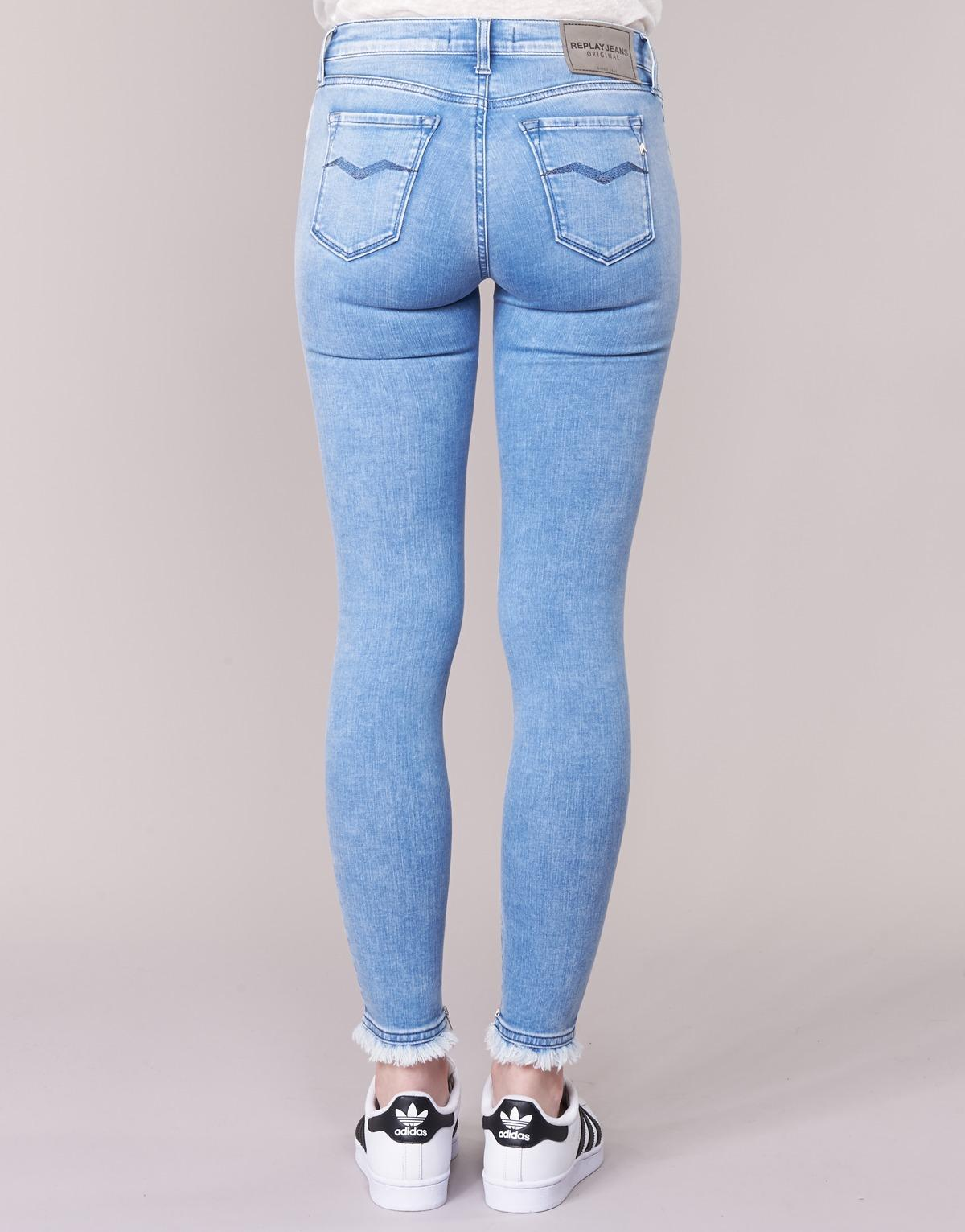Replay Denim Joi 3/4 & 7/8 Jeans in Blue