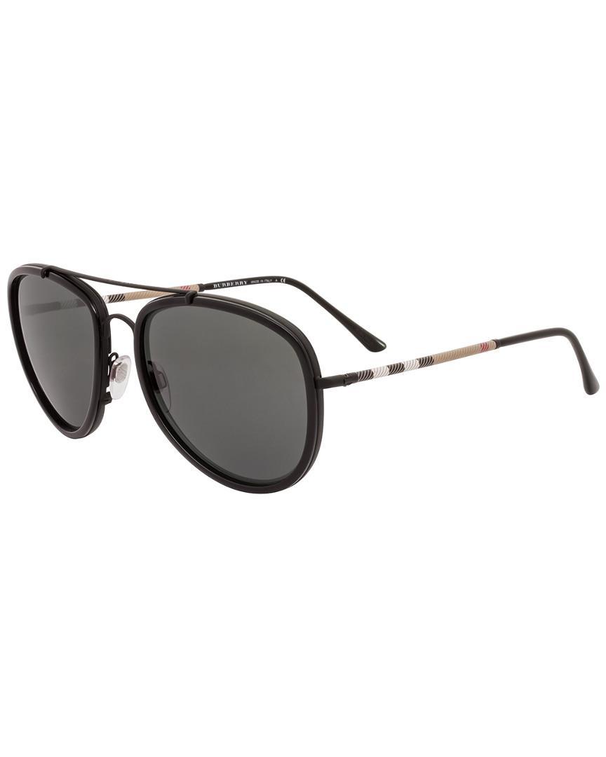 13d1e34bebf Burberry Men s Be3090q 58mm Sunglasses for Men - Lyst
