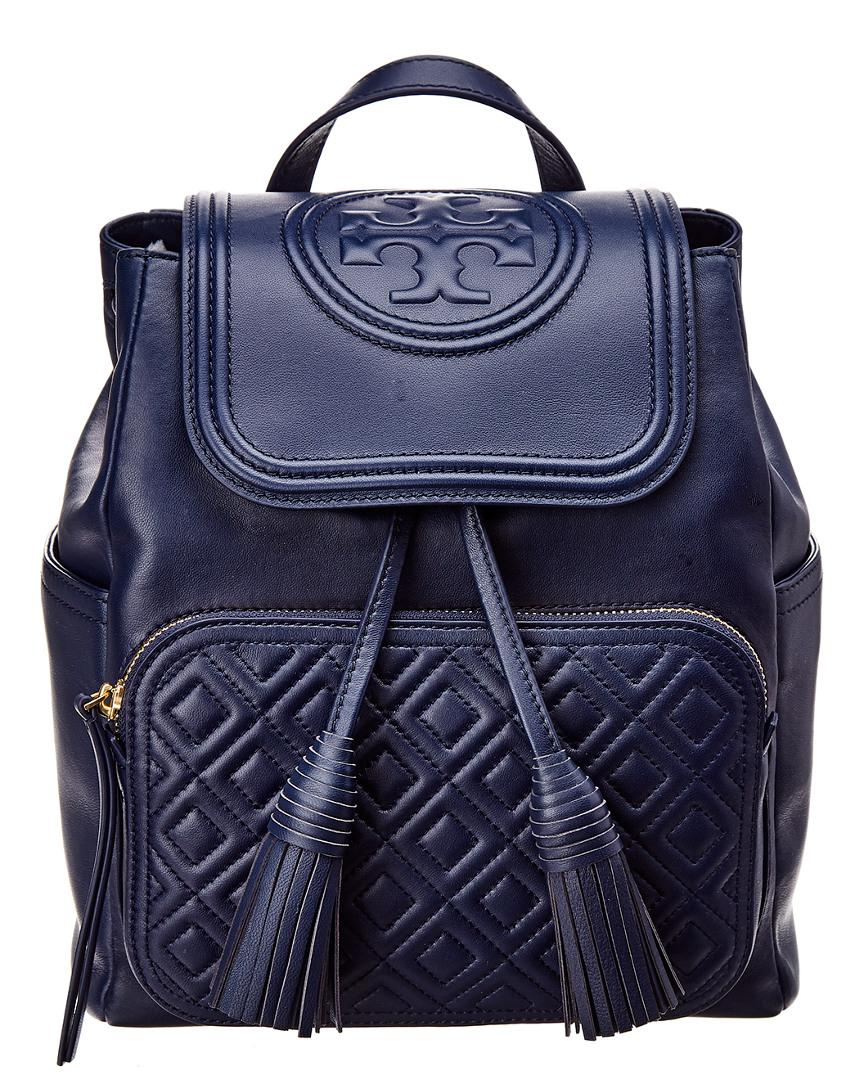 226b0da81dd9 Tory Burch Fleming Backpack in Blue - Save 27% - Lyst