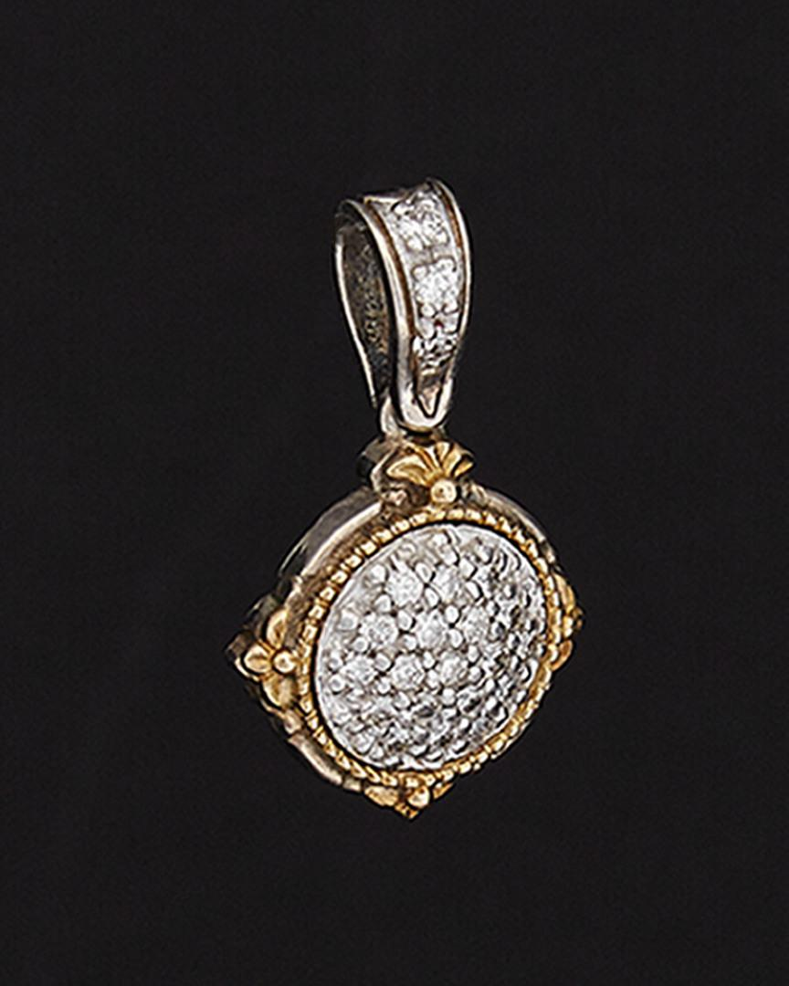 Konstantino Asteri 18k & Silver 0.32 Ct. Tw. Diamond Pendant in Metallic