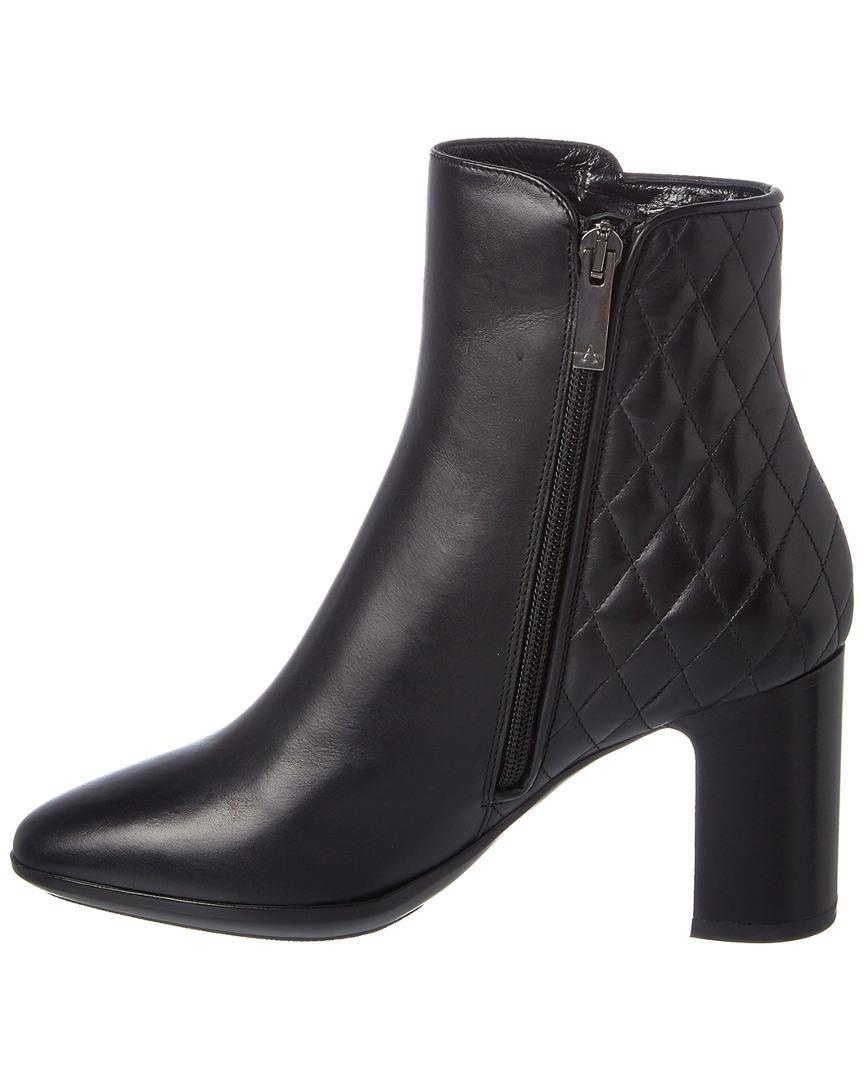 Aquatalia Dorothy Waterproof Leather Bootie in Black