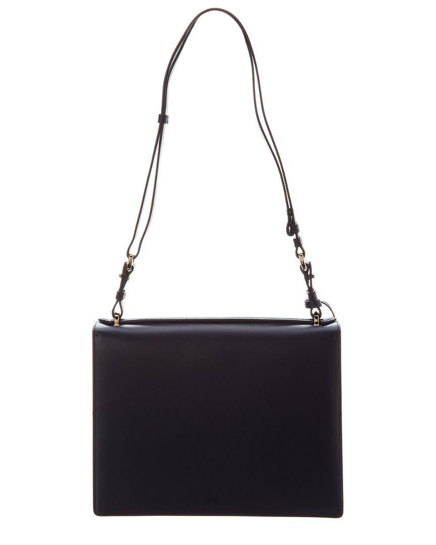 Lyst - Ferragamo Marisol Leather Shoulder Bag in Blue 55ab453c68407