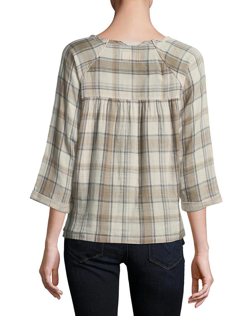 02f4524eaf8a28 Lyst - Current Elliott Current Elliott The Shirred Raglan Shirt - Save  6.779661016949149%