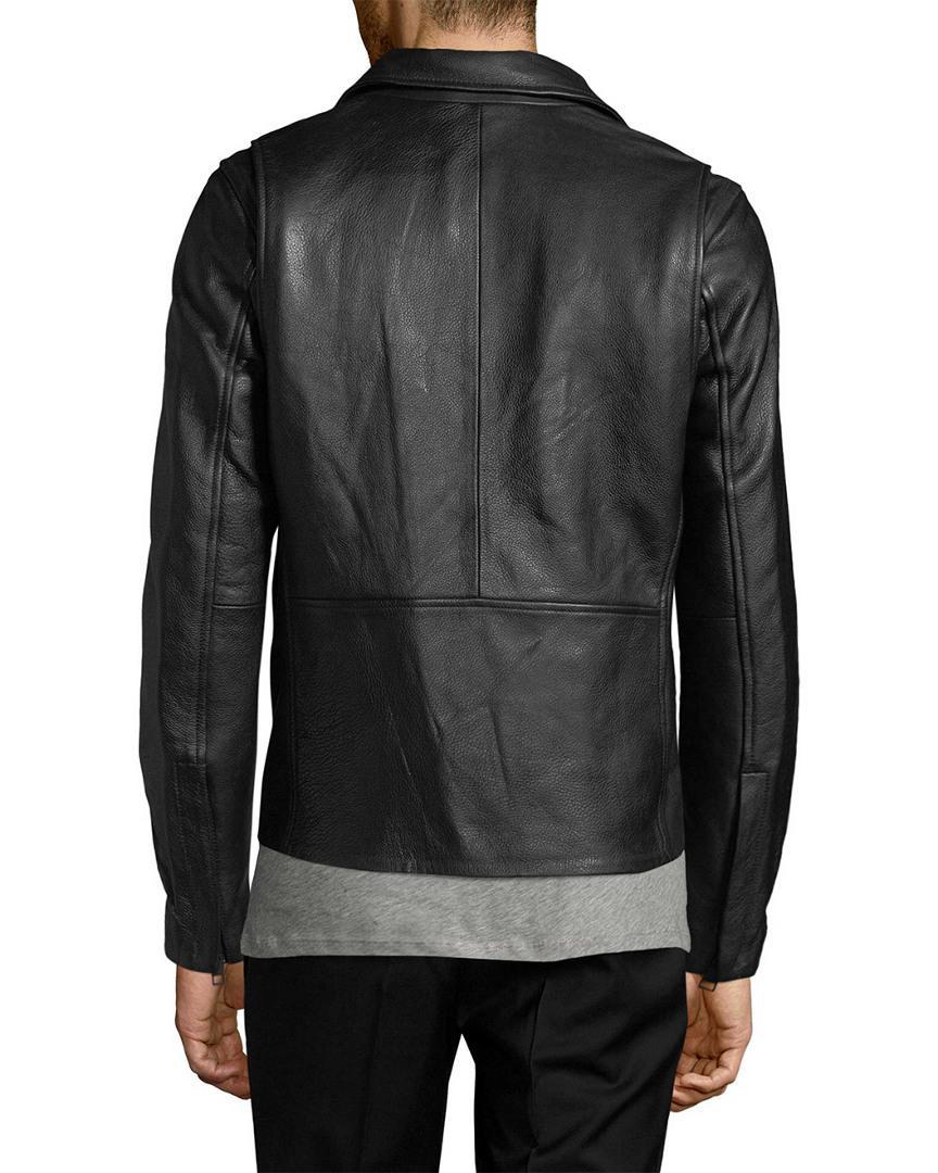 J.Lindeberg Seal 76 Leather Jacket in Black for Men