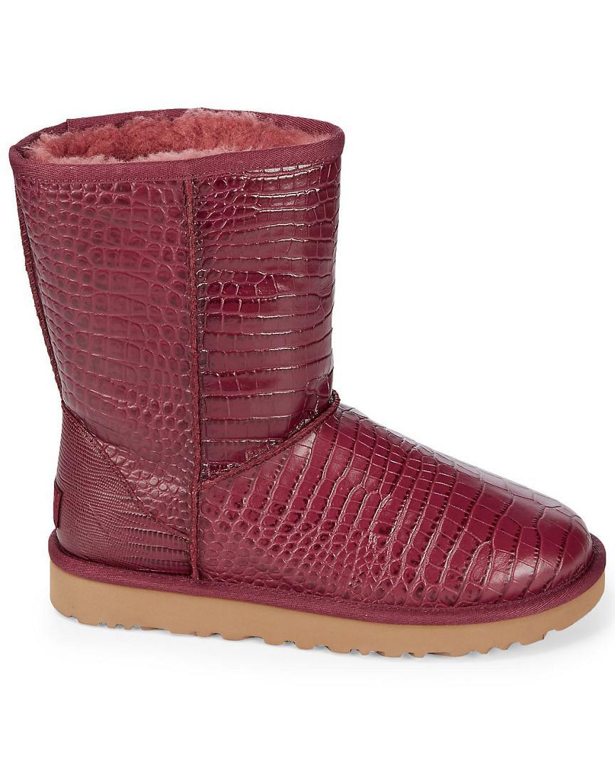 09de0e1b7a9 shopping ugg classic short crocodile embossed boots 9b1a5 86559