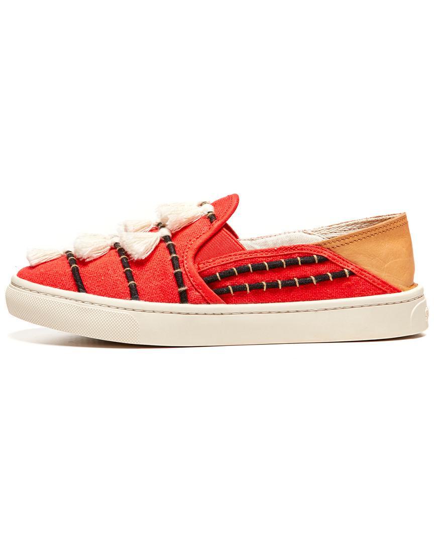 Soludos Womens Tassel Slip ON Sneaker